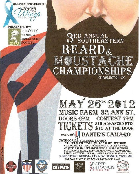 Southeastern Beard and Moustache Championships - Music Farm 2012