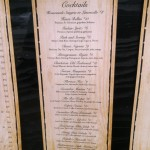 Fratello's Cocktail Menu