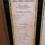 Fratello's Fine Wine Menu 1