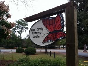 Park Circle Butterfly Garden Sign