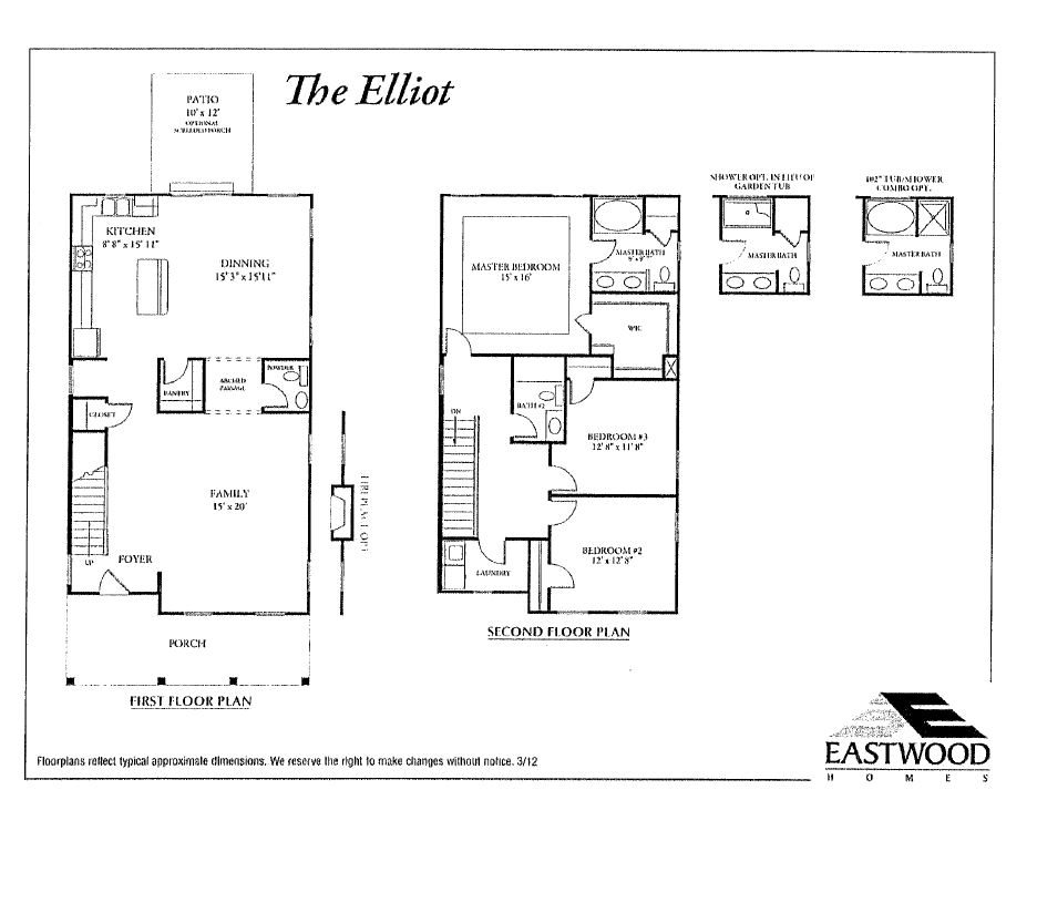 Eastwood homes oak terrace preserve park circle north for Elliott homes floor plans