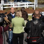 Realtor specializing in Park Circle - Neil Bansil talking to media about North Charleston Revitalization Plan