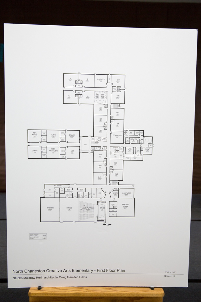 North Charleston Creative Arts Elementary First Floor Plan