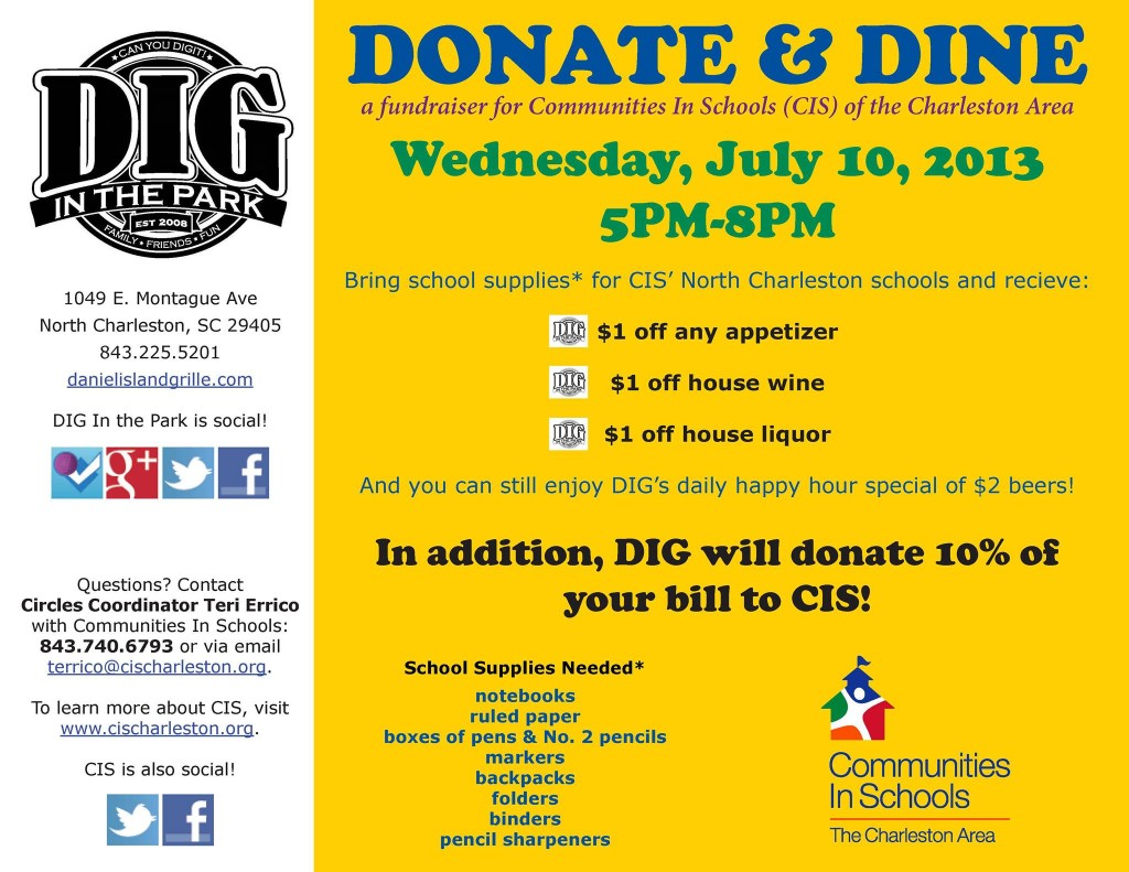 Donate and Dine @ Dig in the Park - Real Deal with Neil