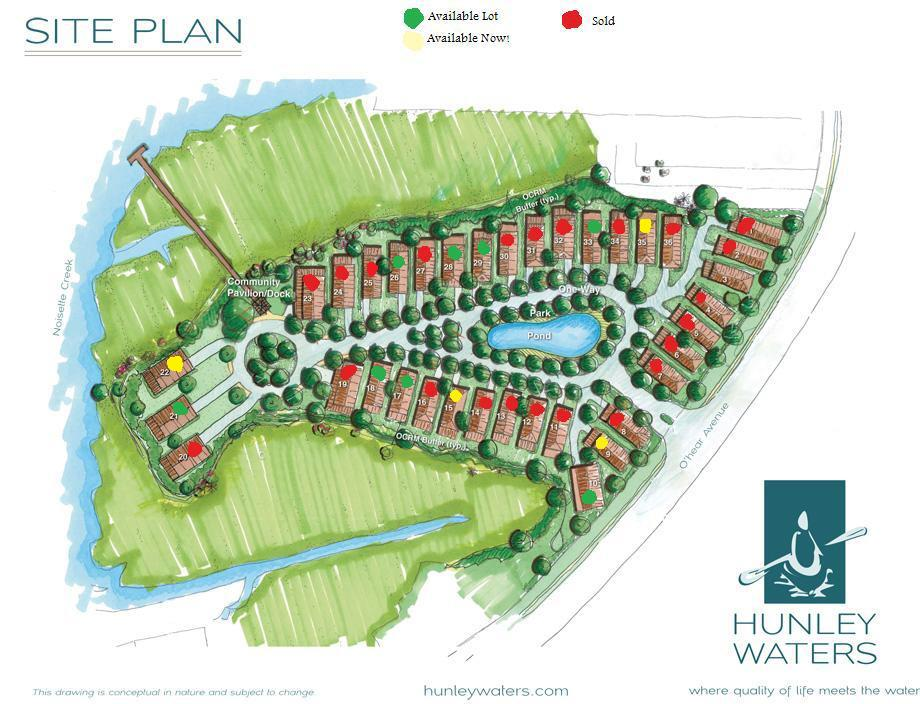 Hunley Waters Site Plan - Exisitng Inventory
