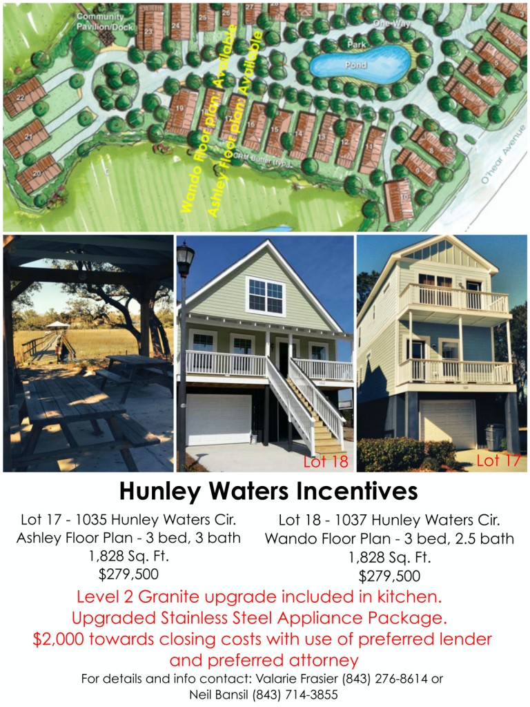 Hunley Waters Incentives Aug/Sept 2014