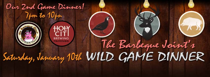 Wild Game Dinner @ The Barbeque Joint