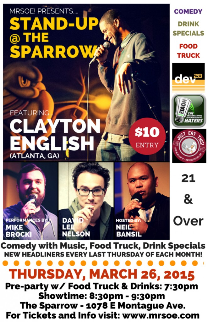 Stand-Up @ The Sparrow Presents...Clayton English