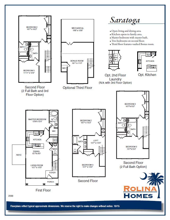 Garco Cottages at Park Circle - Saratoga A Floor Plan