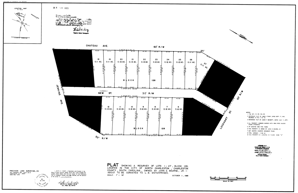 Garco Cottages at Park Circle Site Map