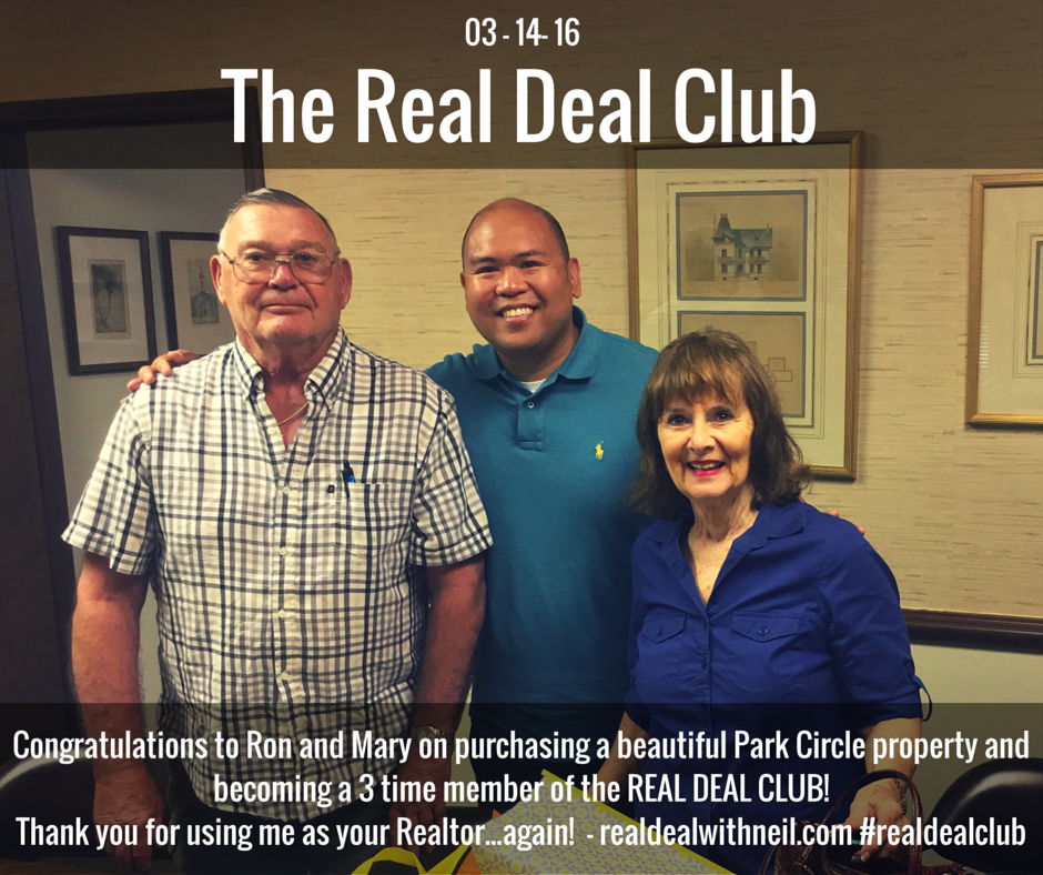 Real Deal Club Inductee: Ron and Mary