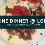 Wine Dinner at Lola