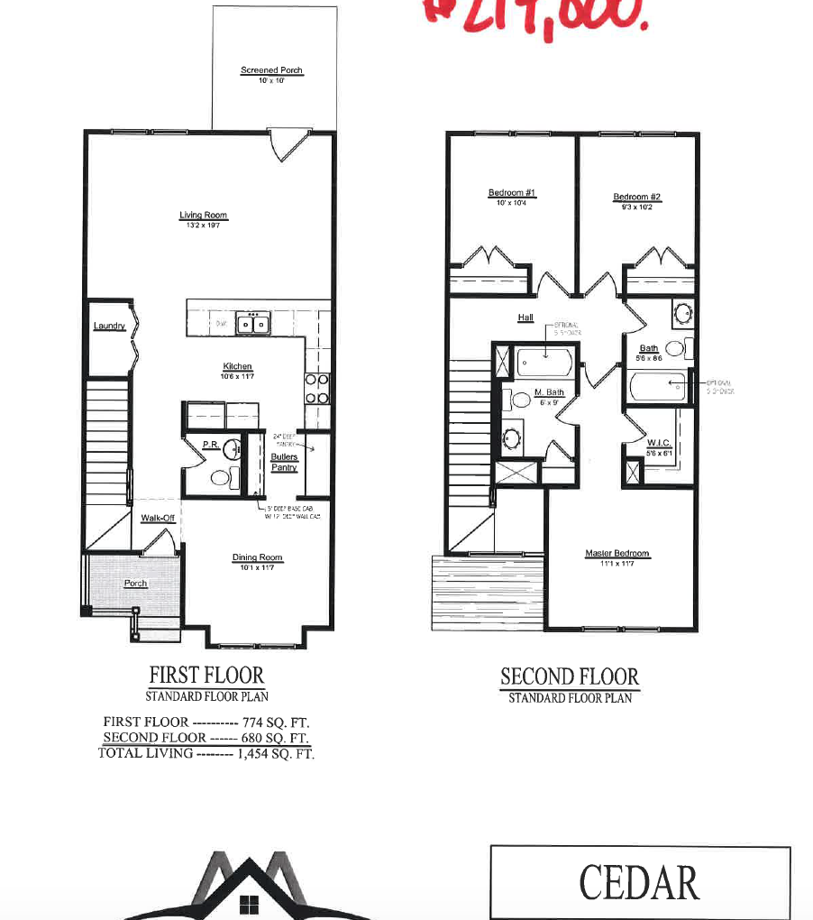 Charleston Landmark Builders Oak Terrace Preserve Park Circle – Charleston Homes Floor Plans