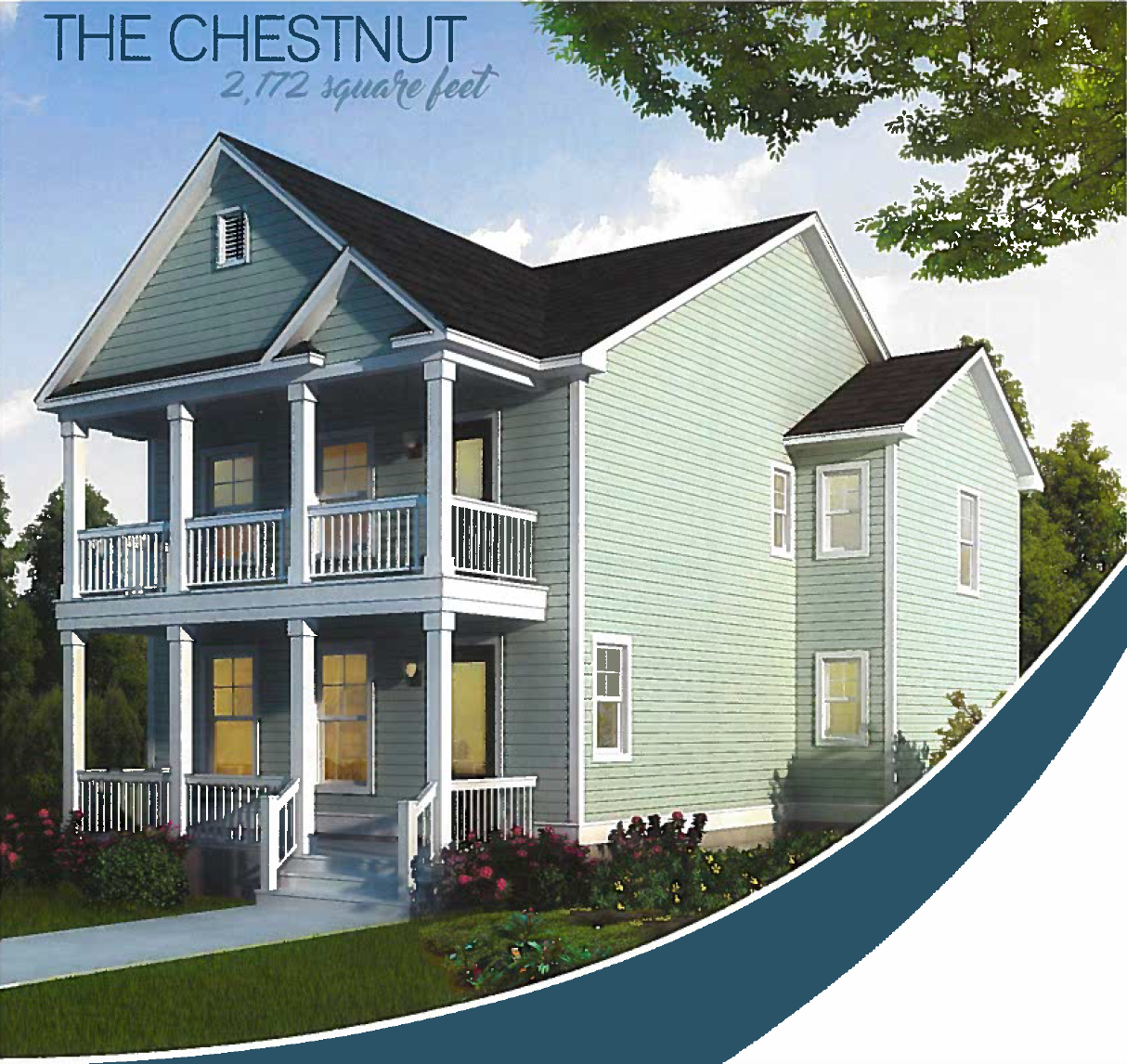 The Chestnut - Charleston Landmark Builders - Oak Terrace Preserve Phase 3