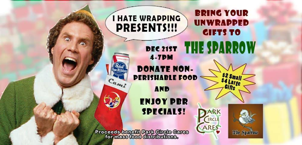 Present Wrapping Fundraiser at The Sparrow