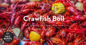Tuesday Crawfish Boil at Lola - Real Deal with Neil