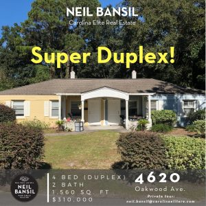 4620 Oakwood Avenue - Park Circle Duplex for Sale - Real Deal with Neil