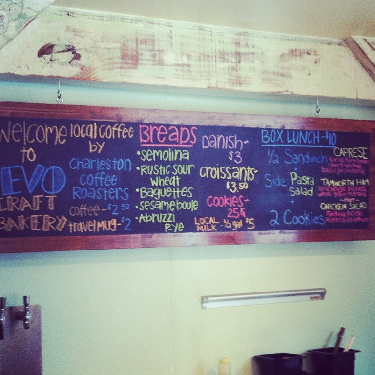 EVO Craft Bakery - Park Circle - Chalkboard Menu - Real Deal with Neil