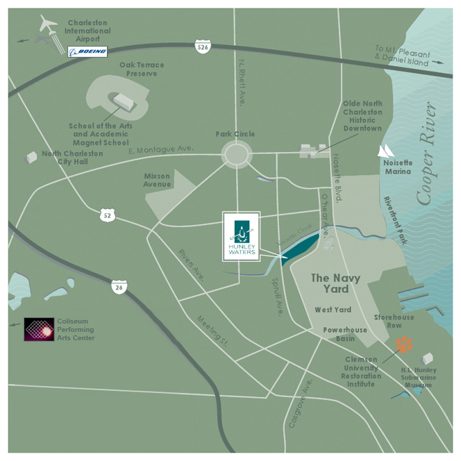 Hunley Waters Community Map