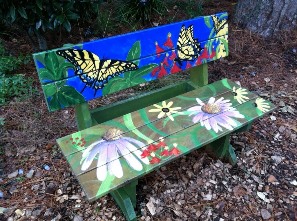Park Circle Butterfly Garden Bench