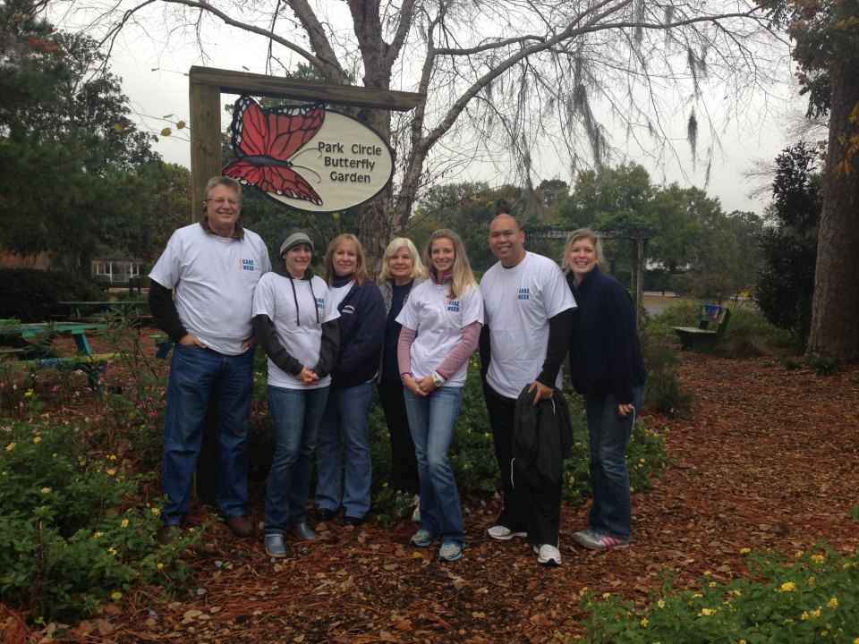 Park Circle Butterfly Garden Cleanup Volunteers