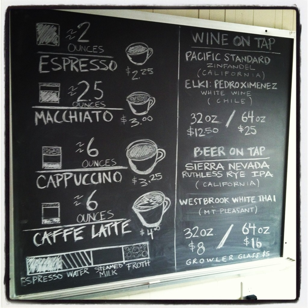 Mixson Market Coffee, Beer & Wine Menu - Real Deal with Neil