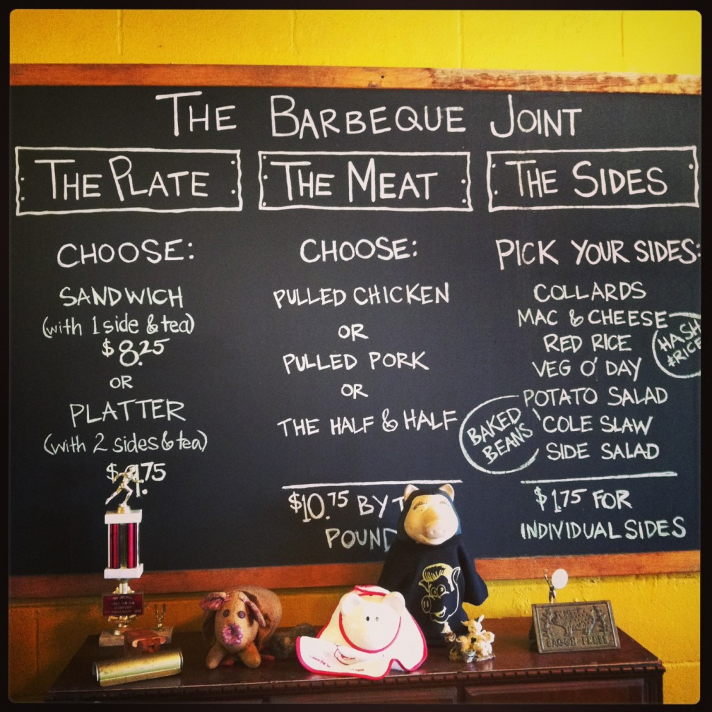 Barbeque Joint Menu - Park Circle - The Real Deal with Neil