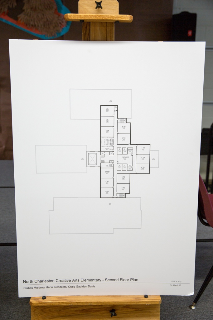 North Charleston Creative Arts Elementary Second Floor Plan