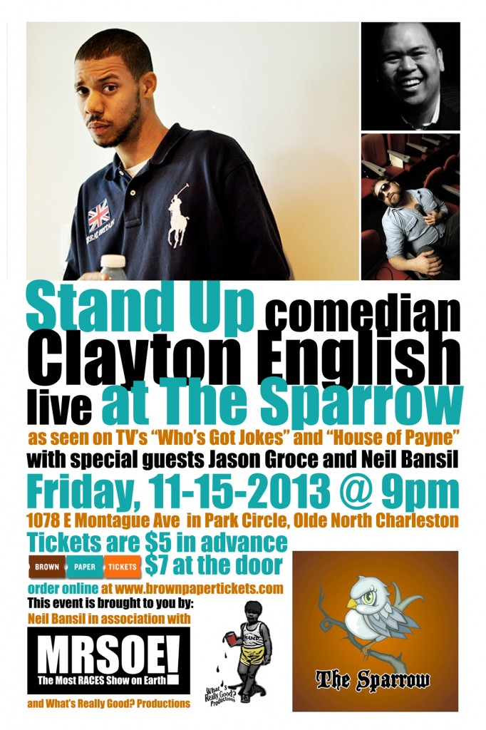 Stand-Up at The Sparrow - Park Circle - featuring Clayton English