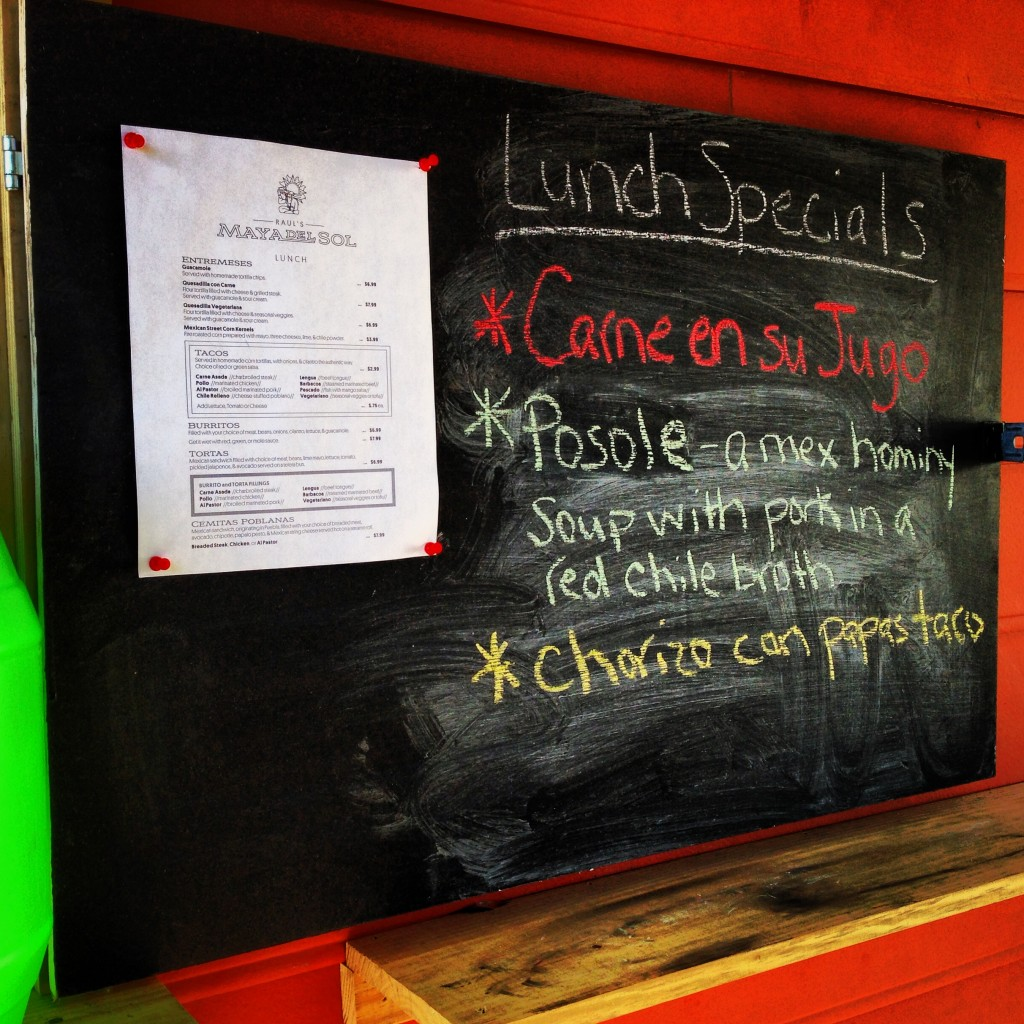 Raul's Maya Del Sol - Park Circle Daily Lunch Specials