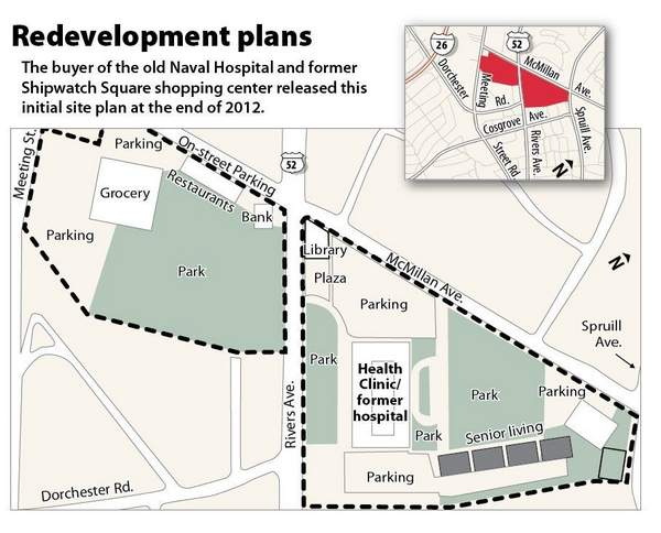 Shipwatch Square Shopping Center Redevelopment Plans