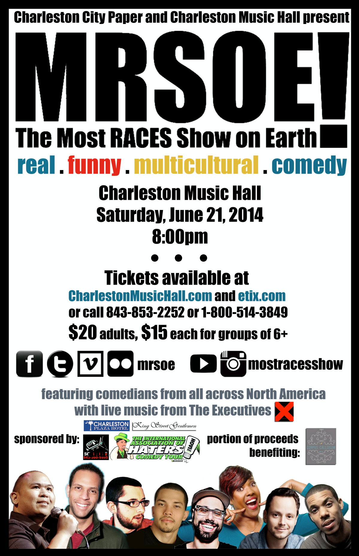 The Most RACES Show on Earth! @ The Charleston Music Hall