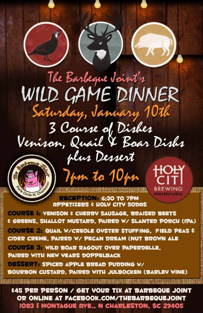 Wild Game Dinner @ The Barbeque Joint Menu