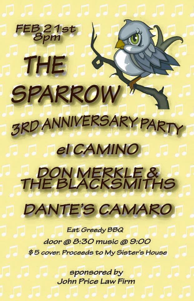 Third Year Anniversary Party @ The Sparrow