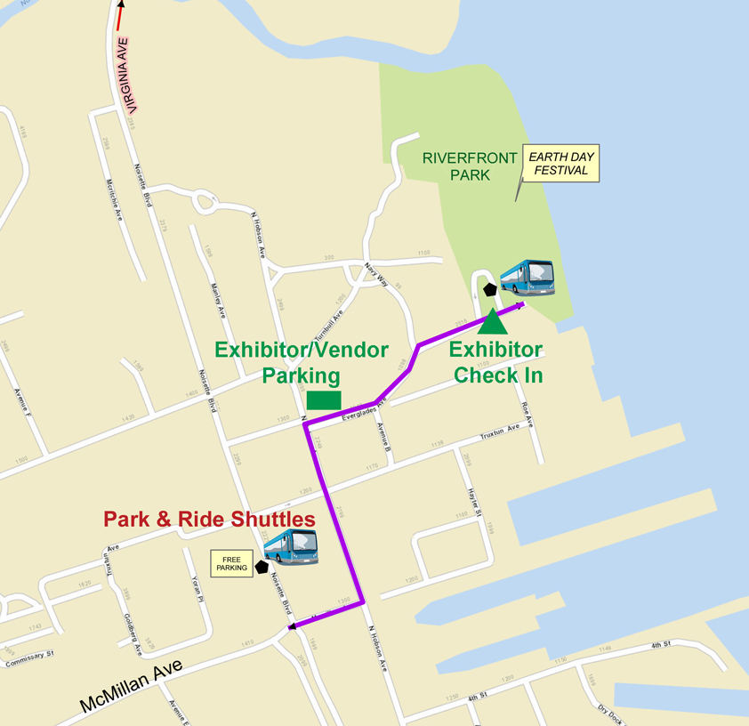 Earth Day Festival 2015 - Charleston County Parking Map