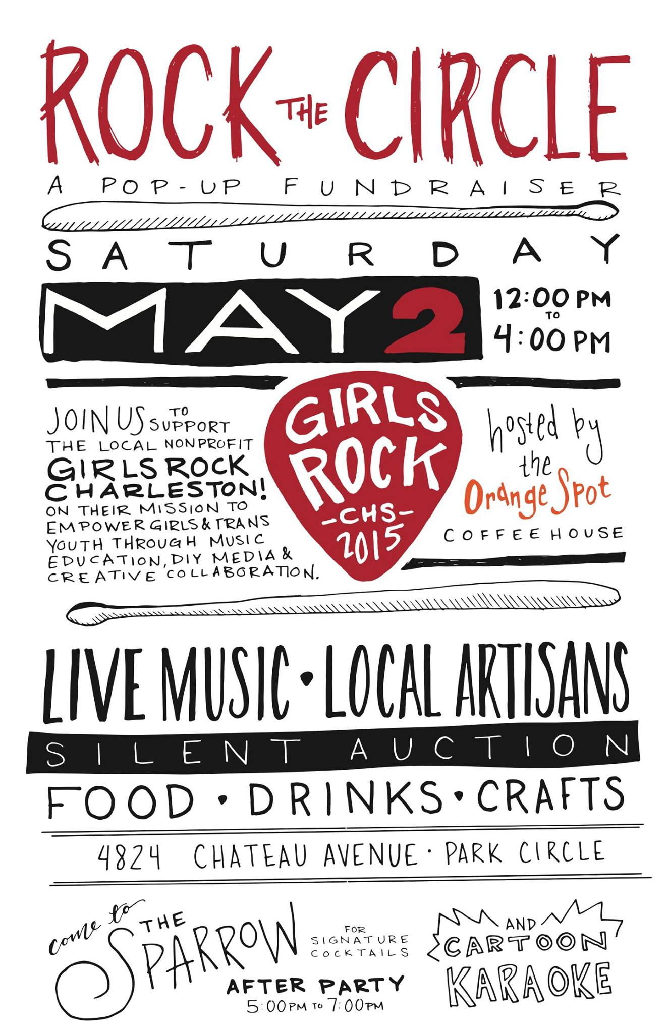 Rock the Circle! A Pop-Up Shop Fundraiser for Girls Rock Charleston
