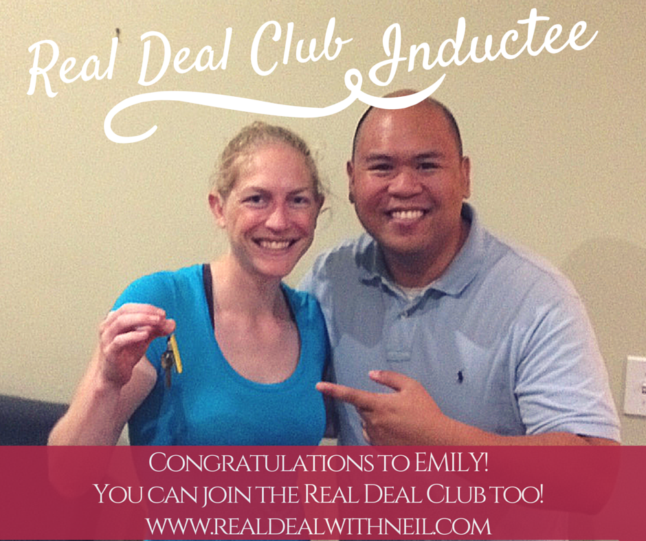 Real Deal Club Inductee - Emily