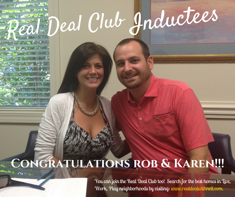 Real Deal Club Inductees: Rob and Karen
