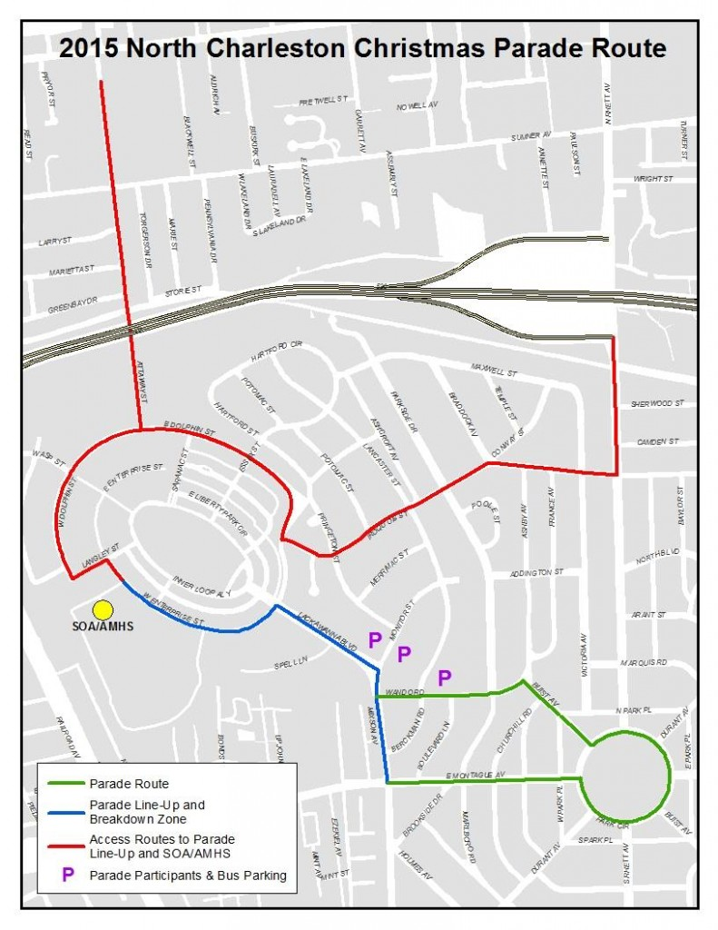 Christmas Festival 2015 - City of North Charleston - Parade Route
