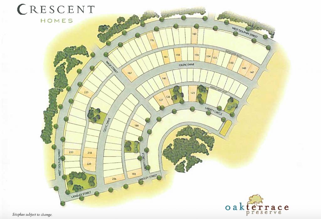 Crescent Homes Lots - Oak Terrace Preserve Phase 3