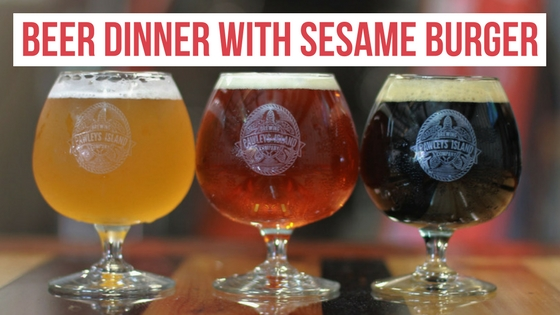 Beer Dinner with Sesame Burger (Park Circle) - Real Deal with Neil