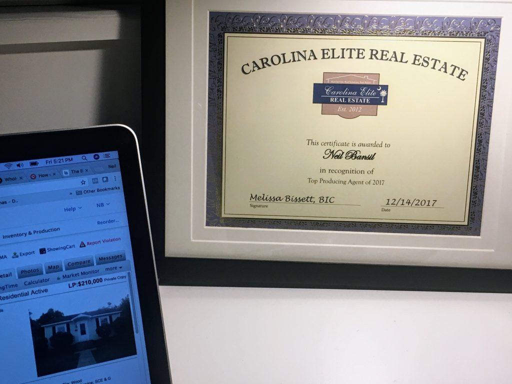 Top Producing Agent - Carolina Elite Real Estate