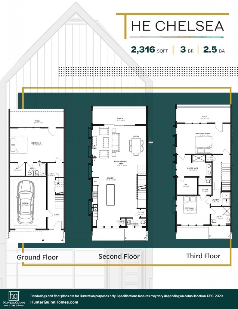 Noisette Towns - The Chelsea Floor Plan