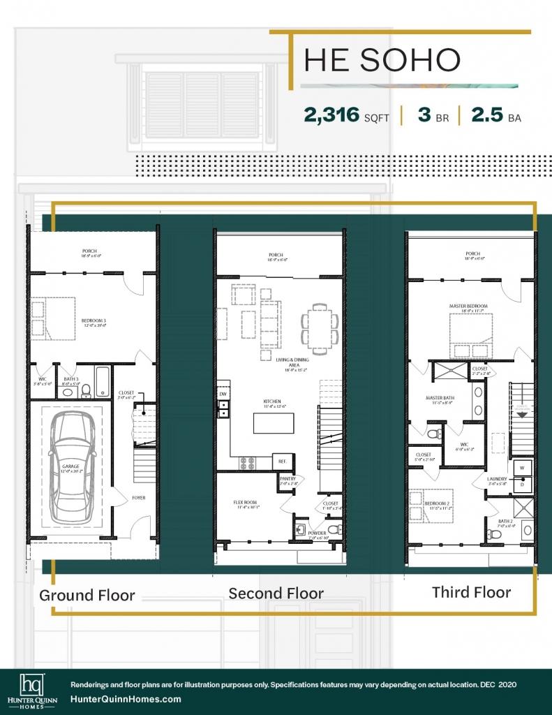 Noisette Towns - The Soho Floor Plan