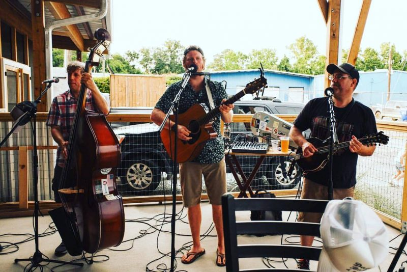Dallas Baker and Friends on the Patio - Holy City Brewing