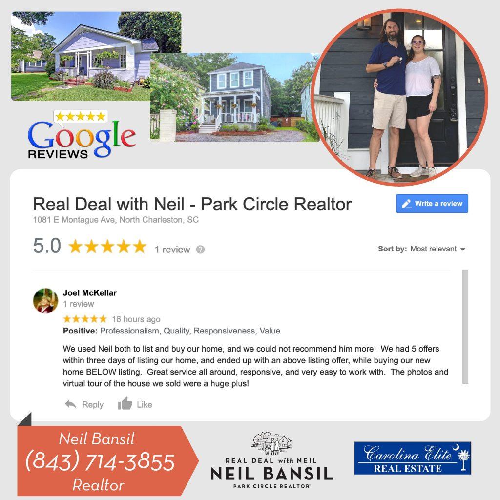 Google Review - Real Deal with Neil - Joel McKellar