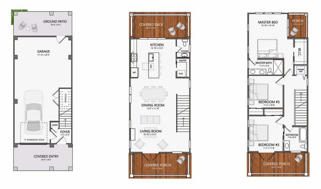 The Poplar Floor Plan - Oak at Park - New Construction - Park Circle