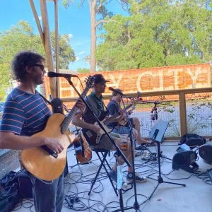 Stephen Jenkins and Friends on the Patio - Holy City Brewing
