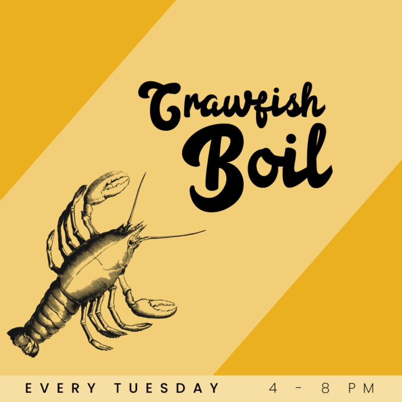 Crawfish Boil Tuesdays at Lola