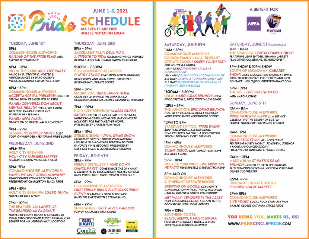Park Circle Pride Event Schedule